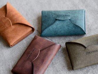 【カラーオーダー】プエブロ4色  手縫い名刺入れ ビジネスカードケース  名入れ可能 の画像