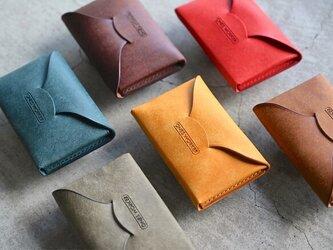【カラーオーダー】プエブロ6色  手縫い名刺入れ ビジネスカードケース  名入れ可能 の画像