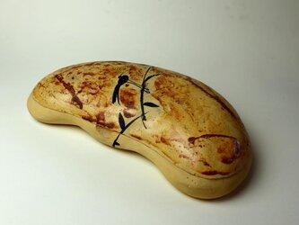 可愛い花豆の菓子/色絵/陶器/茶道具/茶道/鳥/黄色い器/陶芸家池田幸蓮の画像