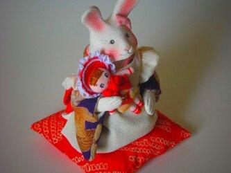 縮緬福兎 お人形 その十の画像