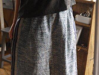 着物紬からサルエル風パンツの画像