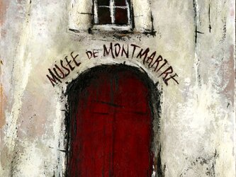 風景画 パリ 油絵「Musee de Montmartre」の画像