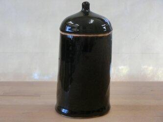謎のフタもの(陶器) 黒ツヤの画像