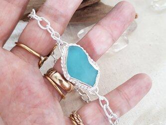 【silver925】seaglass chain braceletの画像