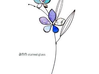 ステンドグラス フラワー190616Bの画像