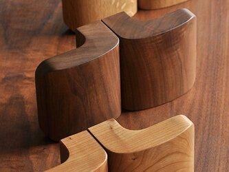 木製ドアハンドル/2本/ドア内外用/DH-VS105 オーク/チェリー/オールナットの画像