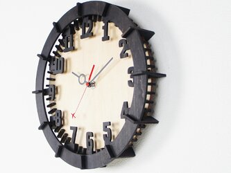 「モダン(数字)」木製掛け時計の画像