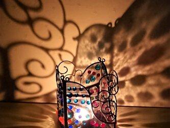 ステンドグラスの「2wayキャンドルホルダー」の画像