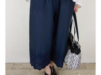 [予約販売]ネイビースカラップ半端丈パンツの画像