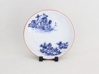 手描き山水絵 4寸小皿の画像