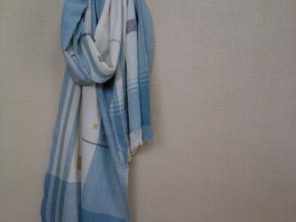 手織りストール~草木染・綿~の画像