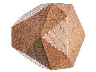 木製コートハンガー/1個/ダイヤモンド型 DK-22L オーク《光が生み出す美しい明暗のグラデーション》の画像