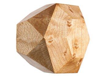木製ドアノブ/1個/ダイヤモンド型 DK-19S バーズアイメイプル 《光が生み出す美しい明暗のグラデーション》の画像