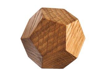 木製コートハンガー/1個/ダイヤモンド型 DK-12M オーク《光が生み出す美しい明暗のグラデーション》の画像