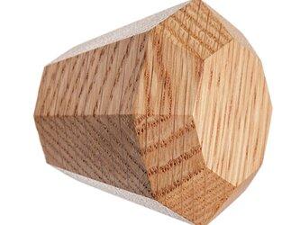 木製コートハンガー/1個/ダイヤモンド型 DK-17L オーク/オールナット 《光が生み出す美しい明暗のグラデーション》の画像