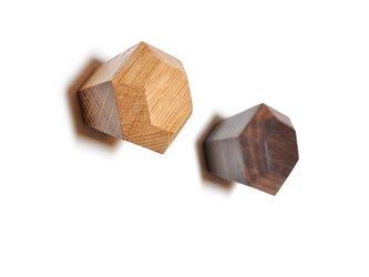 木製ドアノブ/2個/ダイヤモンド型 DK-13L(オーク/チェリー/オールナット )【選べる2個セット】の画像