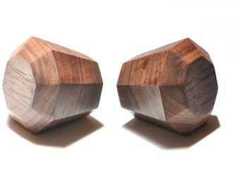 木製ドアノブ/2個/ダイヤモンド型 DK-17L オーク/オールナット《光が生み出す美しい明暗のグラデーション》の画像