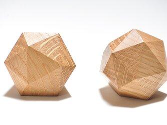 木製ドアノブ/ 2個/ダイヤモンド型 DK-22L オーク【2個セット】《光が生み出す美しい明暗のグラデーション》の画像