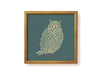 Poster + Frame 20 / Fluffy scops owlの画像