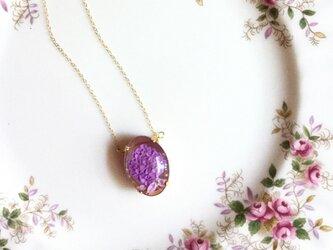 紫陽花の裏彫りネックレス 小の画像