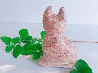 祈りの匂い袋〜香りむすび〜にゃん香 生成り地に桜柄の画像