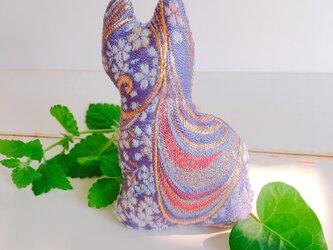 祈りの匂い袋〜香りむすび〜にゃん香  藤色地に 桜流水紋の画像
