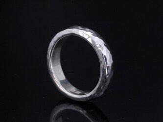 【刻印無料】 指輪 メンズ : 甲丸 丸 鎚目 シルバー リング 5mm幅 4~27号 シンプルの画像
