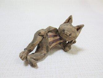 リボン黒猫 の画像