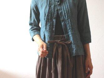 ハーフリネン ギャザースカートの画像