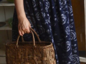 久留米絣反物からワンピースの画像