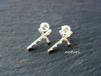 【croix】sv925 cross pierce (2pcs)の画像