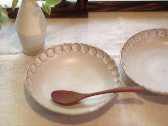 カフェオレ色の浅鉢 の画像