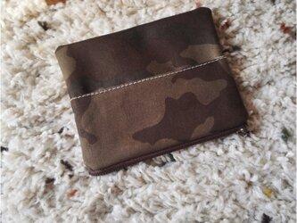 カモフラ帆布のファスナー&ポケットティッシュケースの画像