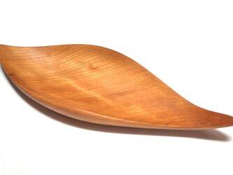 皿/葉っぱ トレー TR-SC Sサイズ チェリー 《ホームパーティに素敵な木のお皿》の画像