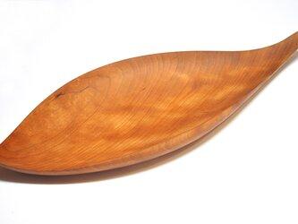 皿/葉っぱ トレー TR-LS Lサイズ チェリー 《ホームパーティに素敵な木のお皿》の画像