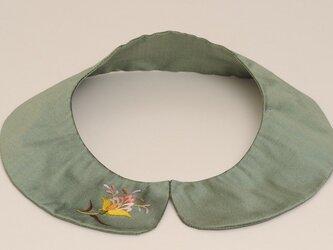付け襟「更紗mini(グリーン)」の画像