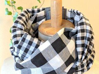 19-28 保冷剤入れ付スカーフ風日除けネックウォーマーの画像