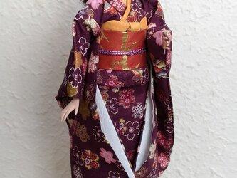 バービー着物 花紫の画像