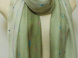 「色が変化する麴塵染」シルクストール 2の画像