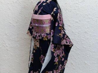 バービー着物 夜桜の画像