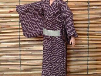 ケン着物 紗綾型の浴衣の画像