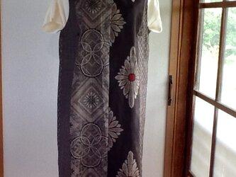 大島紬多種類のジャンパースカートの画像
