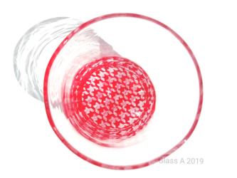 千鳥格子グラスの画像