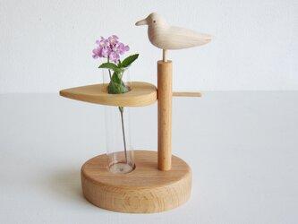 小鳥の一輪挿しの画像