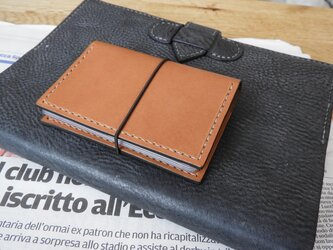 国産ヌメ革カードケース/キャメルの画像
