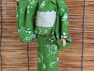 バービー浴衣 和緑の画像