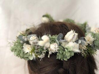 花嫁さまの花冠  プリザーブドフラワーの画像