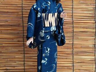 バービー浴衣 青藍の画像