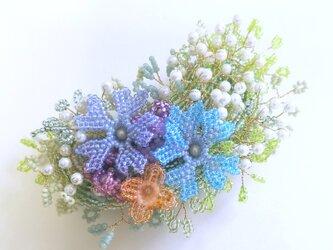 バレッタ Bouquet  (カスミソウ)の画像