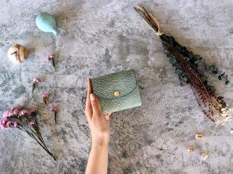 アラスカ_グリーン◆外装◆こども財布◆三つ折りの画像